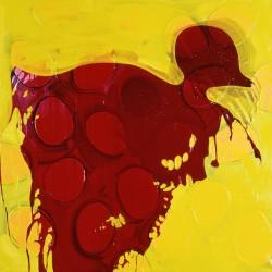 Canard au vin- 80X80 cm- Huile sur toile- 2007