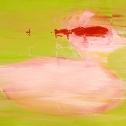 Canard en fuite- 65X40 cm- Huile sur toile- 2007