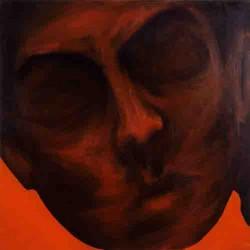Autoportrait-80X80 cm- Huile sur toile- 2005