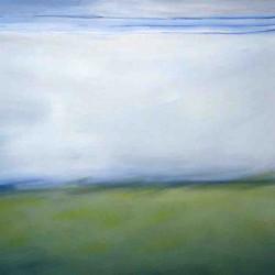 Pays sage-150X80 cm- Huile sur toile- 2004