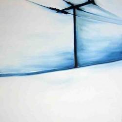 Sur la route-150X150 cm- Huile sur toile- 2004