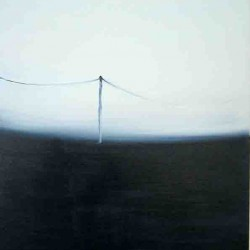 Poteau electrique sur horizon-60X80 cm- Huile sur toile- 2004