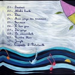 Peinture à l'huile sur papier- illustration CD enfant