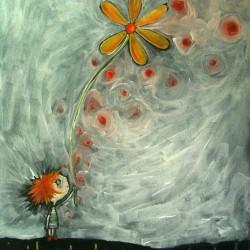 Peinture à l'huile sur papier 21X29,7 cm