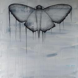 Papillon – 120X150 cm – Huile/pigments et fusain sur toile – 2017