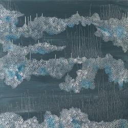 cellules nuages – 60X60 cm – Huile et pigments sur toile – 2017