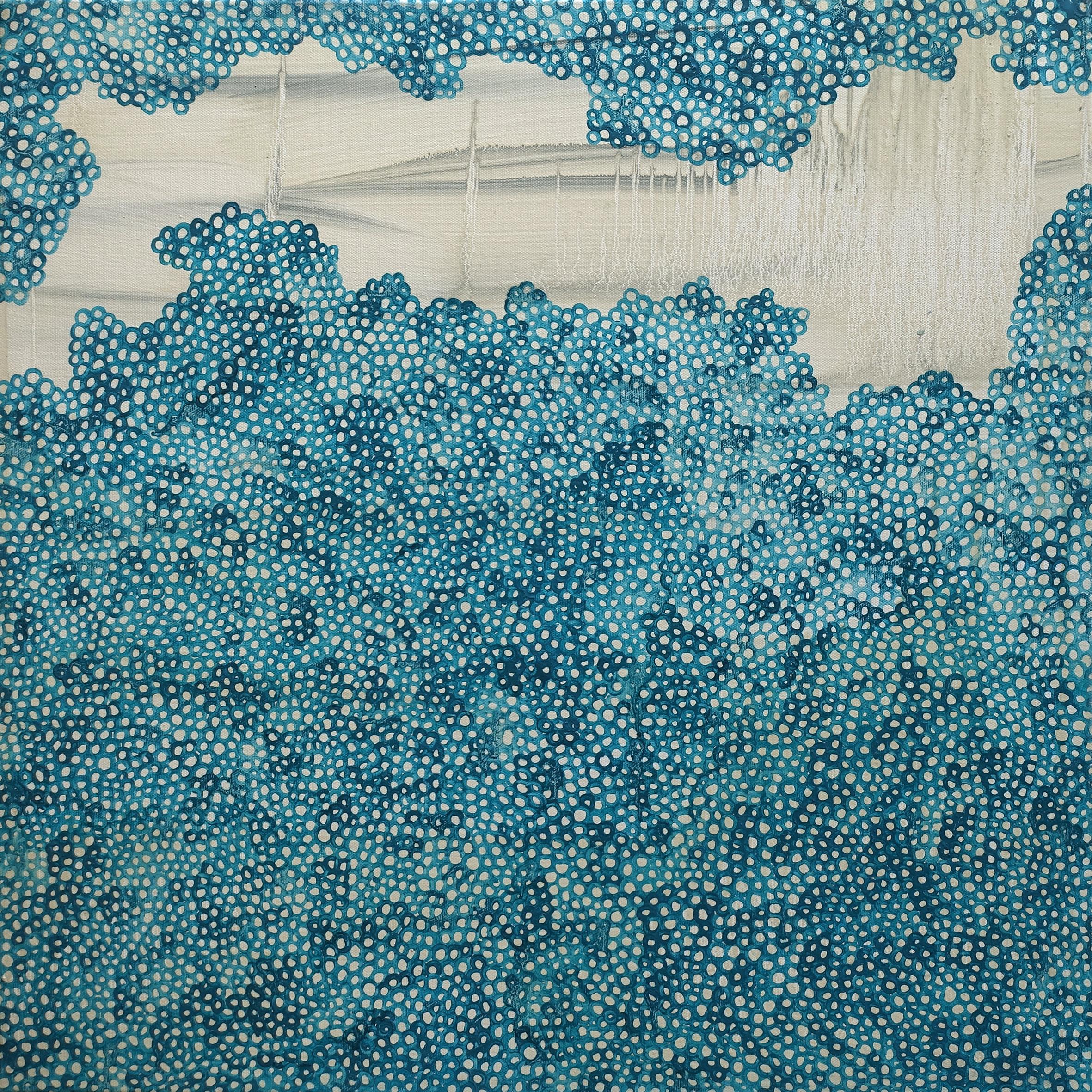 cellules – 60X60 cm – Huile et pigments sur toile – 2017