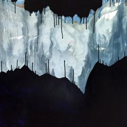 Grotte – 98X150 cm – Huile et pigments sur toile – 2017