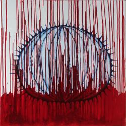 Oursin – 80X80 cm – Huile sur toile – 2016